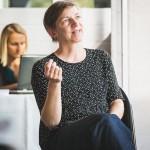 Katja Schell - UNTEN Round Table, 05.09.2017. Copyright: Digital Hub Vienna/Zytka